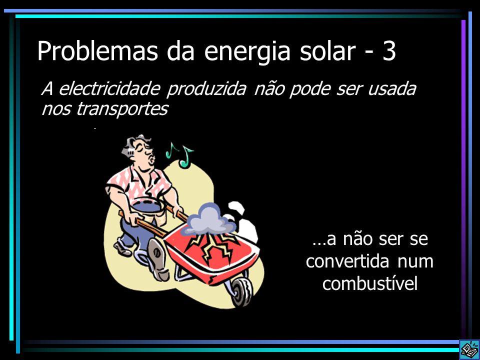 Problemas da energia solar - 3