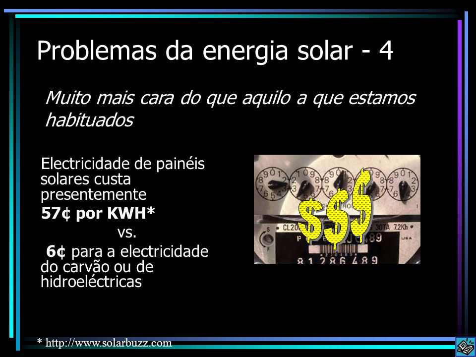 Problemas da energia solar - 4