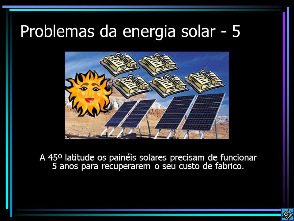 Problemas da energia solar - 5