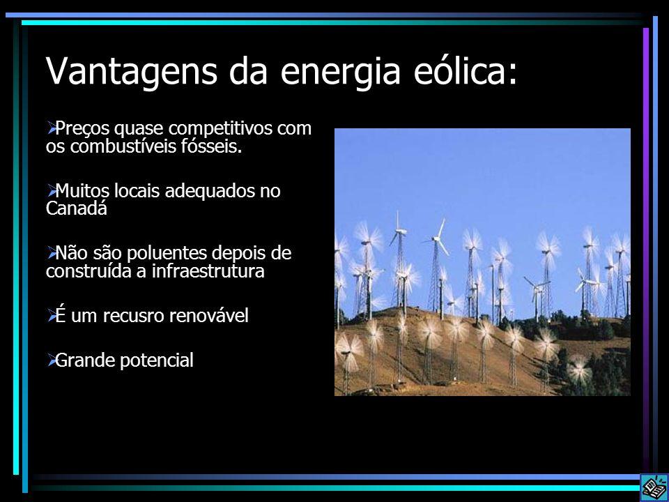 Vantagens da energia eólica: