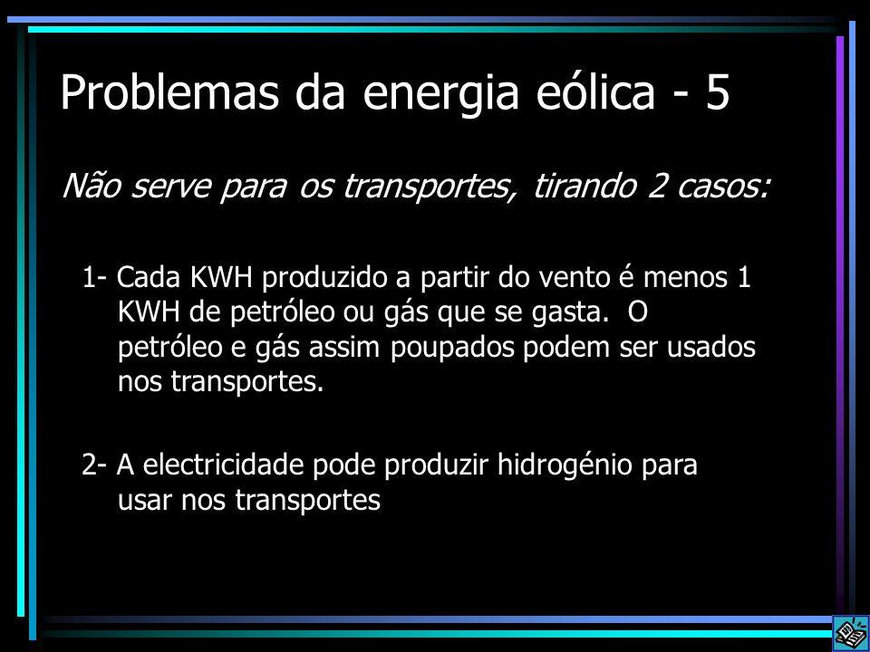 Problemas da energia eólica - 5