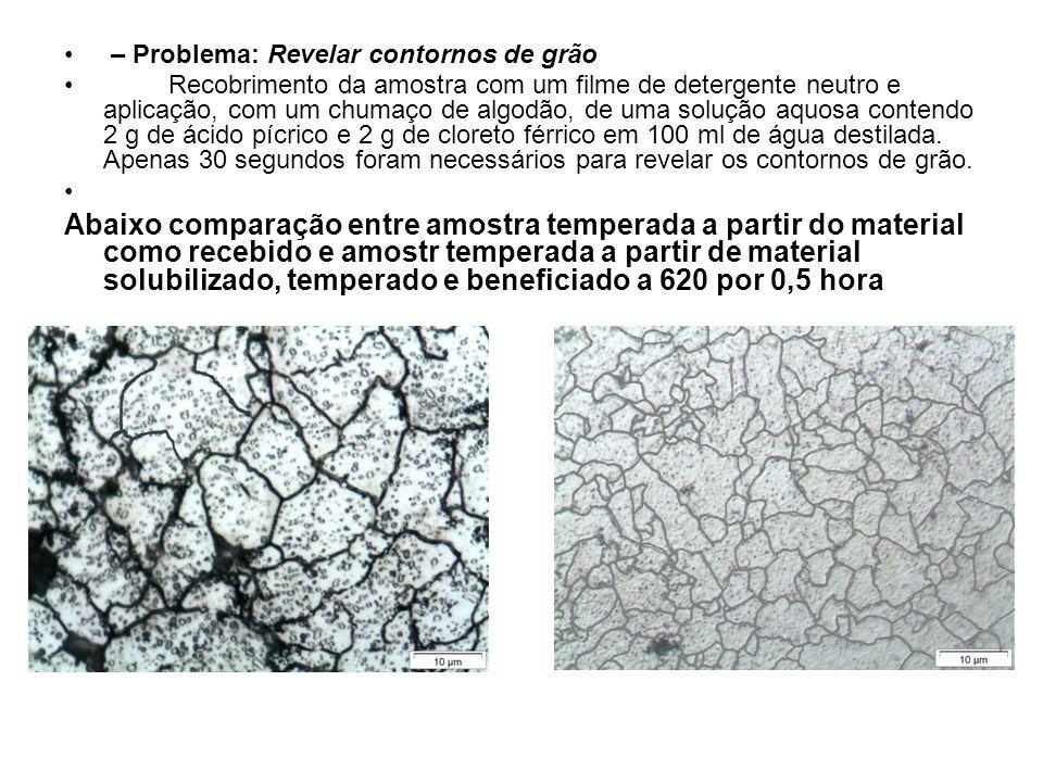 – Problema: Revelar contornos de grão