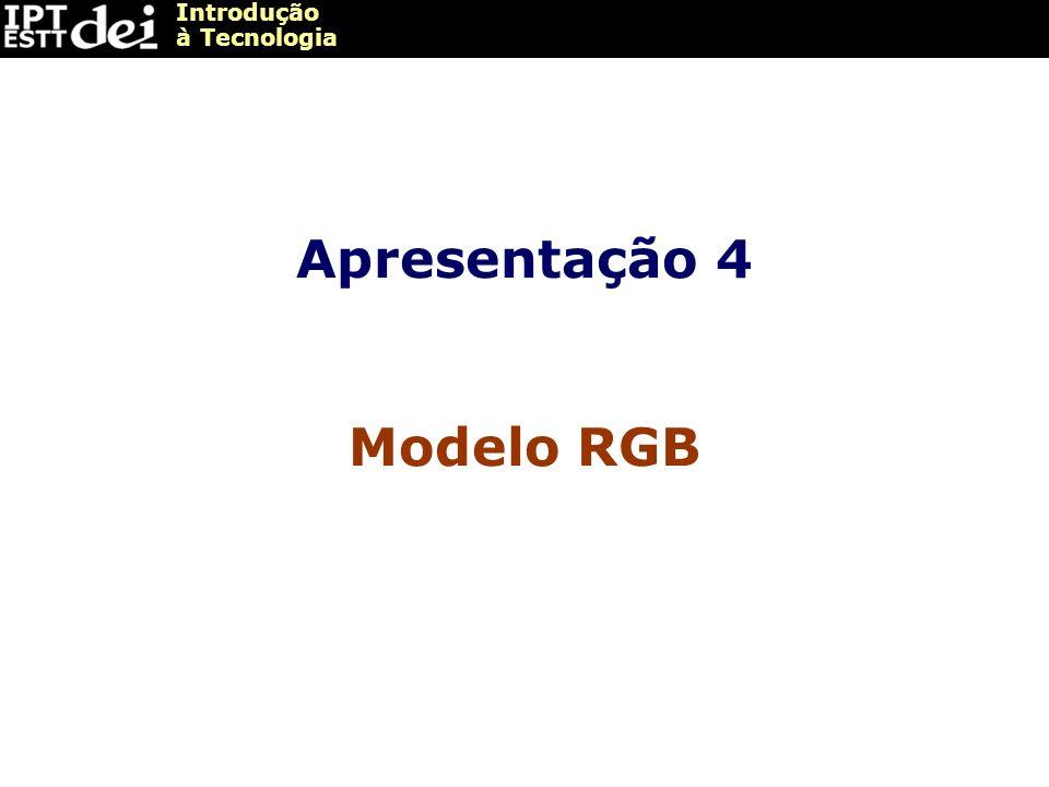 Apresentação 4 Modelo RGB