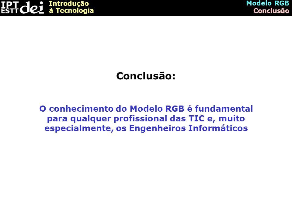 Modelo RGB Conclusão. Conclusão: