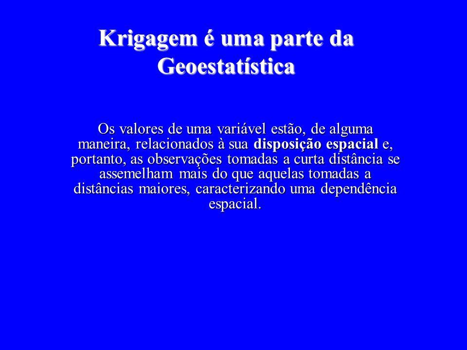 Krigagem é uma parte da Geoestatística