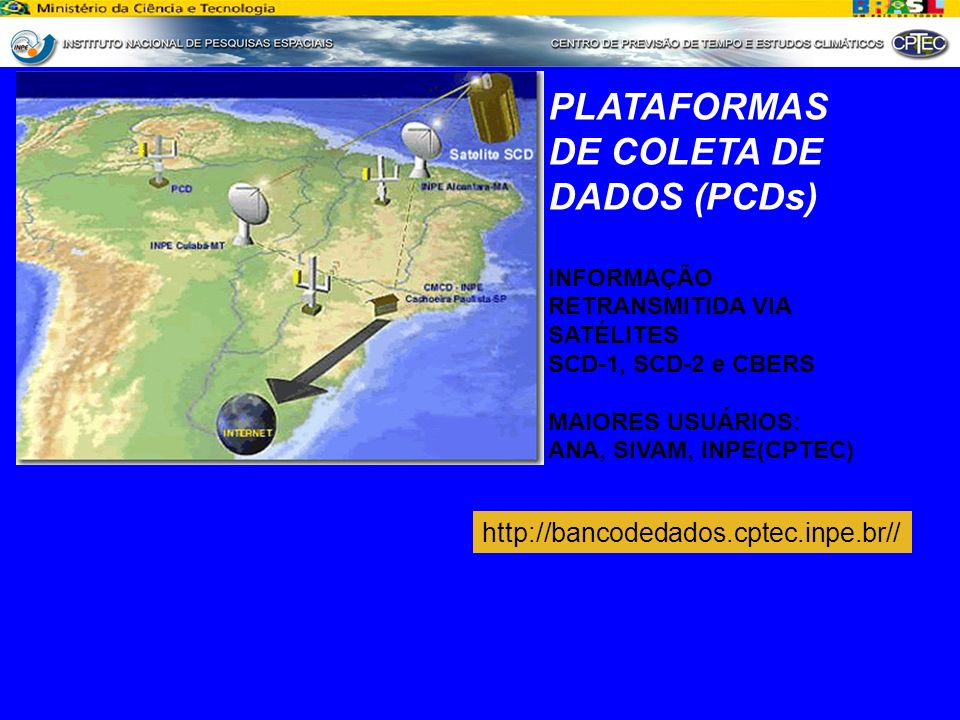 PLATAFORMAS DE COLETA DE DADOS (PCDs)