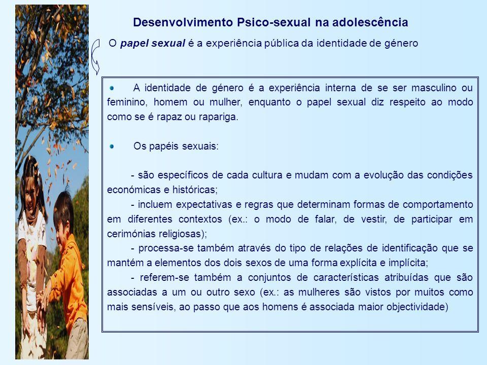 Desenvolvimento Psico-sexual na adolescência
