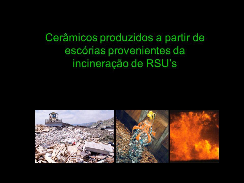 Cerâmicos produzidos a partir de escórias provenientes da incineração de RSU's