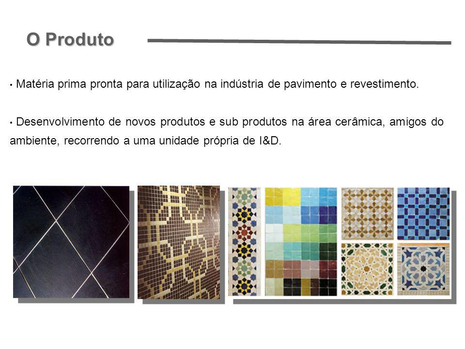 O Produto Matéria prima pronta para utilização na indústria de pavimento e revestimento.