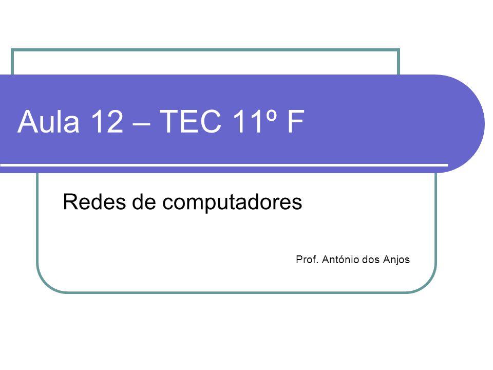 Redes de computadores Prof. António dos Anjos