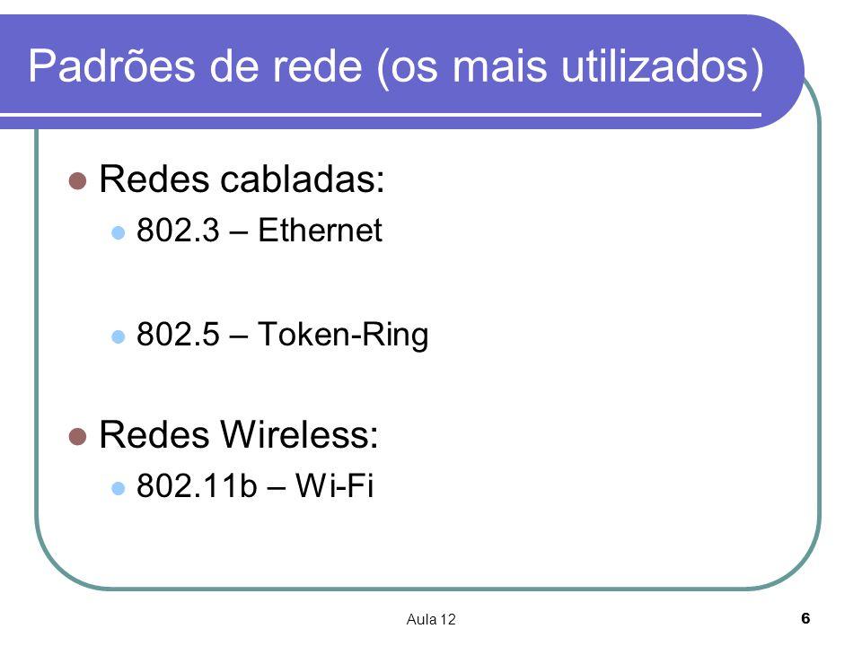 Padrões de rede (os mais utilizados)