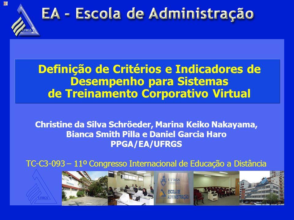 18/03/2004 Definição de Critérios e Indicadores de Desempenho para Sistemas de Treinamento Corporativo Virtual.