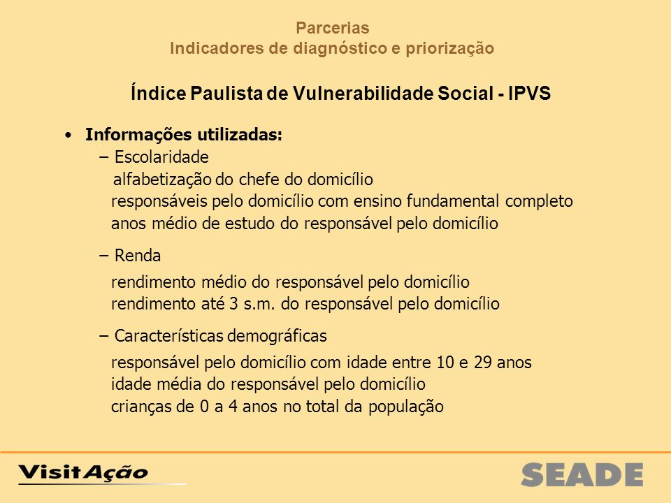 Índice Paulista de Vulnerabilidade Social - IPVS