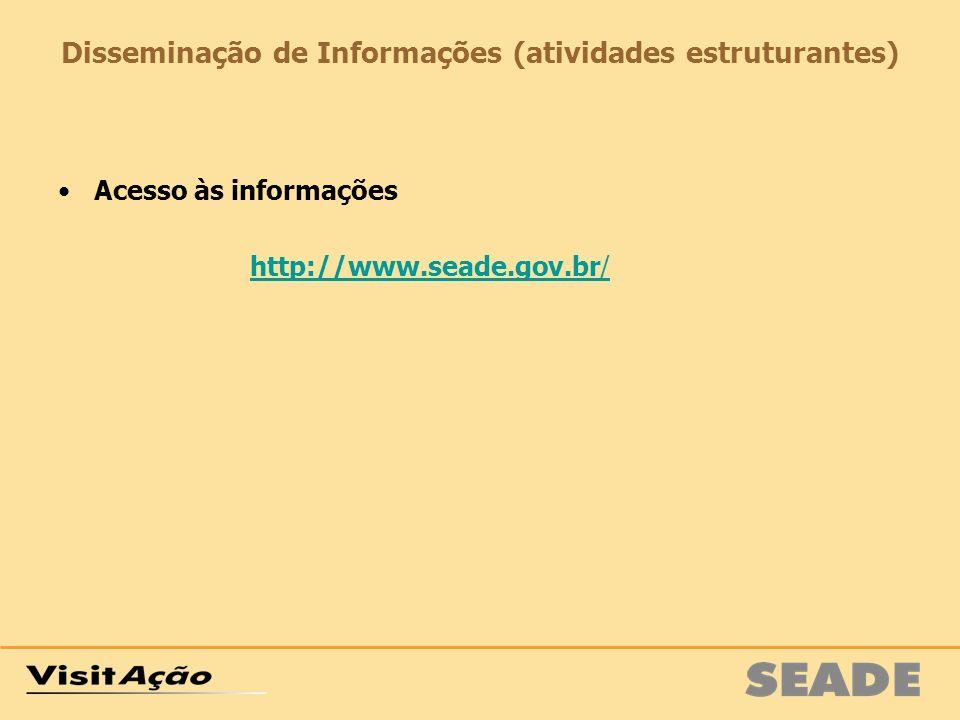 Disseminação de Informações (atividades estruturantes)