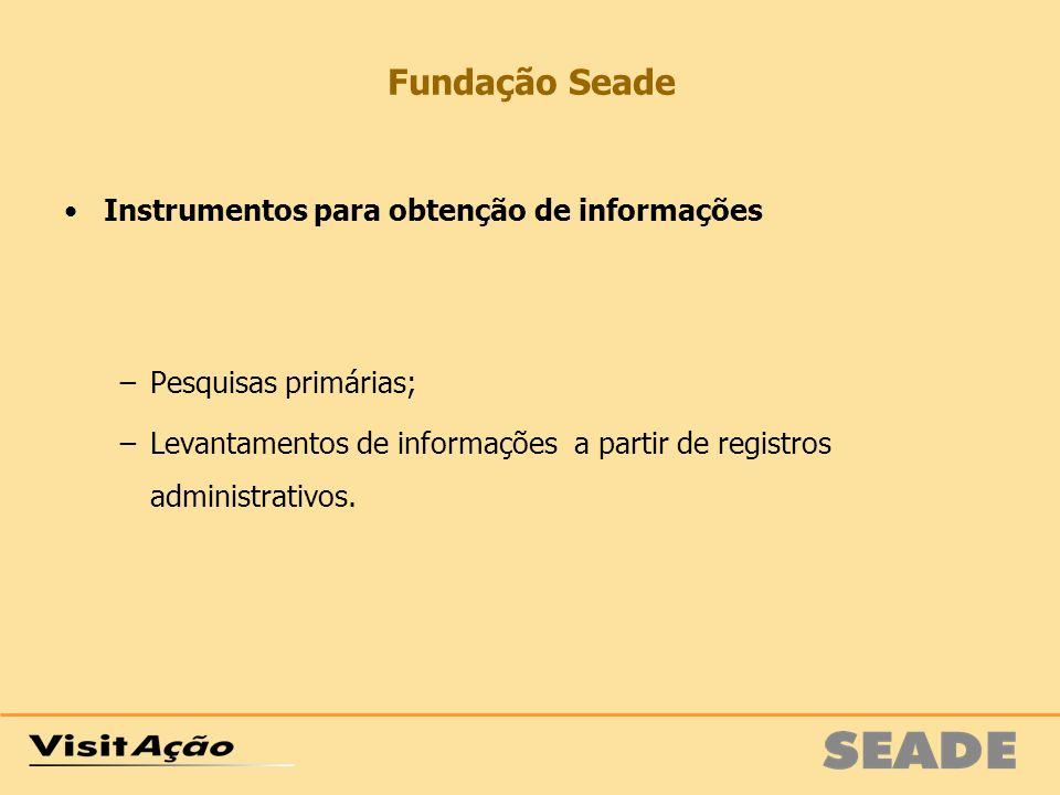 Fundação Seade Instrumentos para obtenção de informações