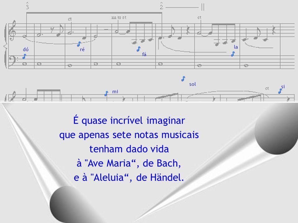 É quase incrível imaginar que apenas sete notas musicais