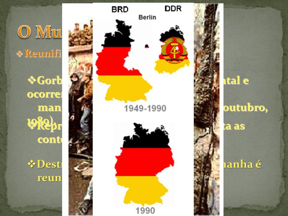 O Mundo Socialista Gorbatchev visita a Alemanha Oriental e ocorrem