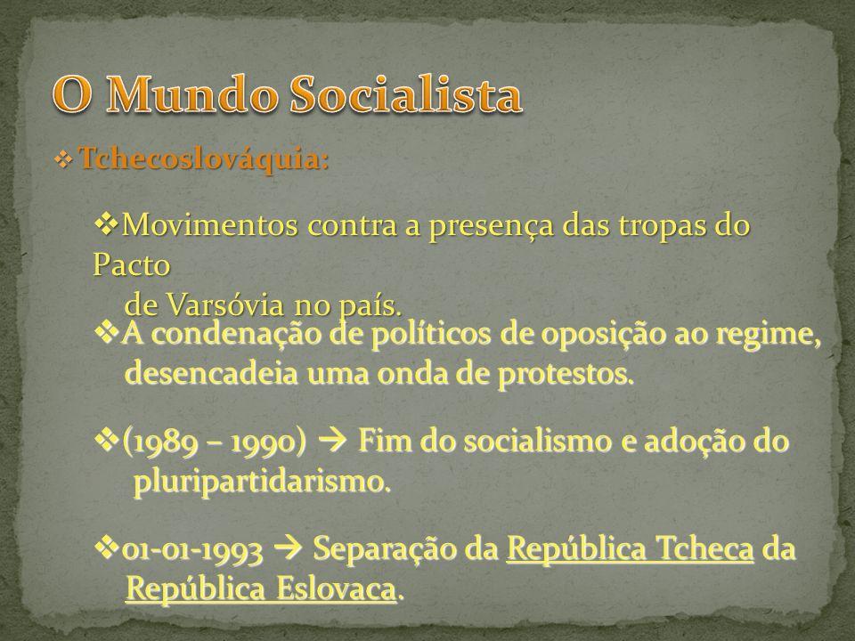O Mundo Socialista Movimentos contra a presença das tropas do Pacto
