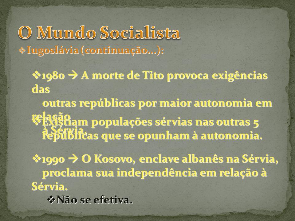 O Mundo Socialista 1980  A morte de Tito provoca exigências das