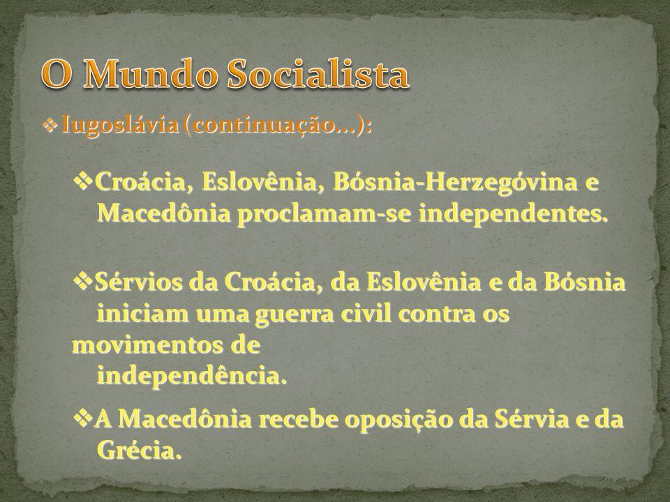 O Mundo Socialista Croácia, Eslovênia, Bósnia-Herzegóvina e