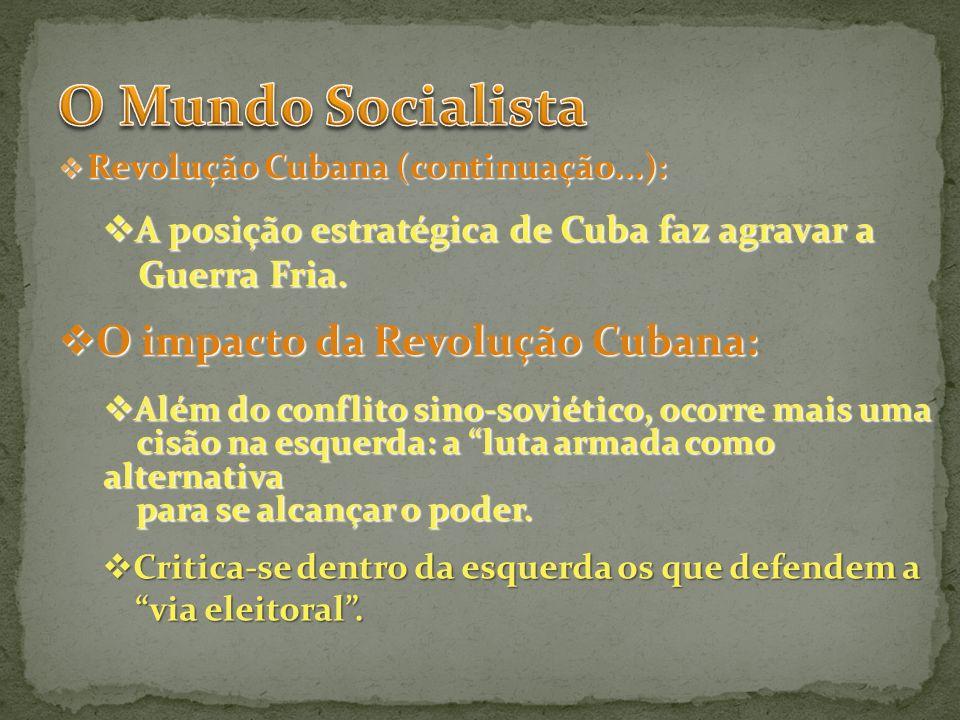 O Mundo Socialista O impacto da Revolução Cubana: