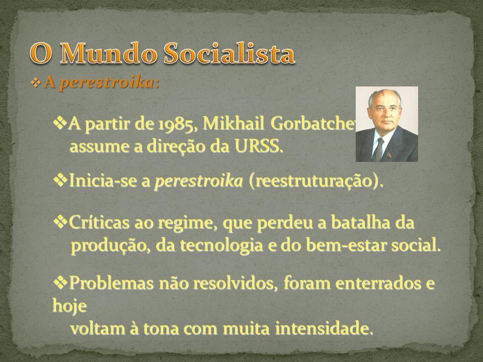 O Mundo Socialista A partir de 1985, Mikhail Gorbatchev