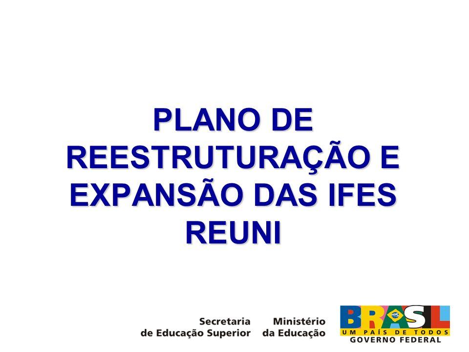 PLANO DE REESTRUTURAÇÃO E EXPANSÃO DAS IFES REUNI