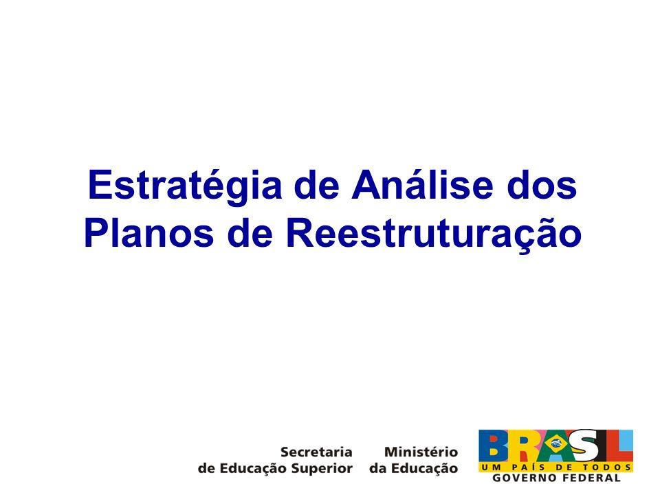 Estratégia de Análise dos Planos de Reestruturação
