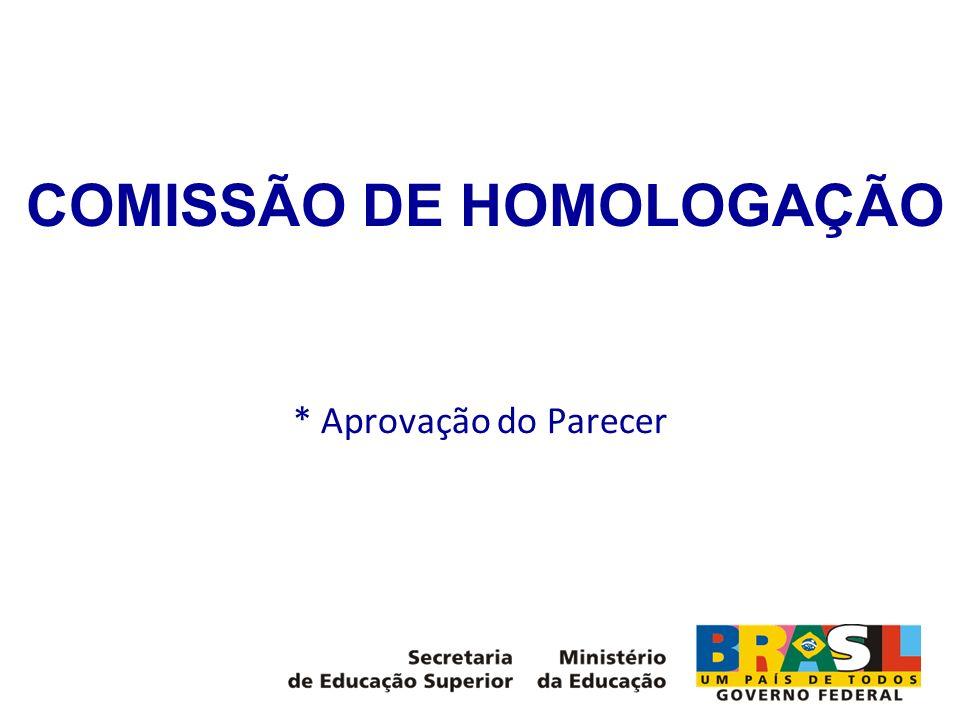 COMISSÃO DE HOMOLOGAÇÃO