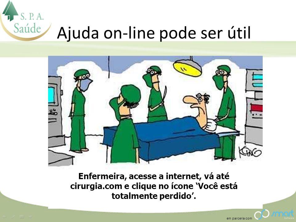 Ajuda on-line pode ser útil
