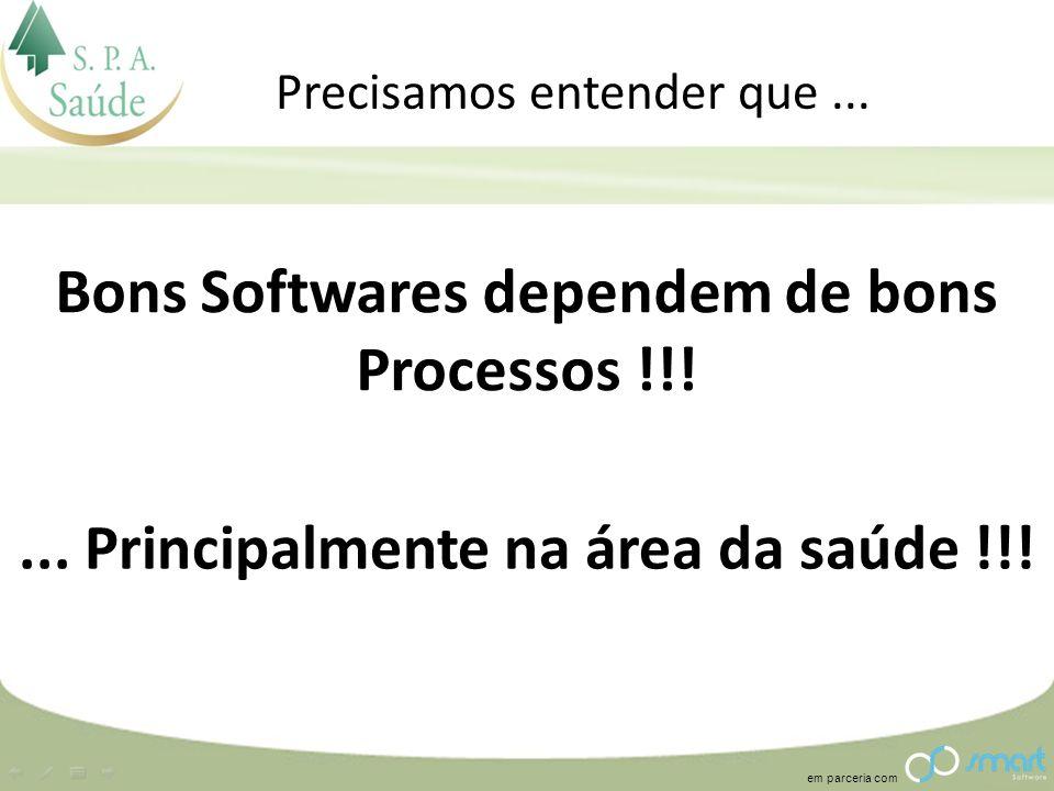 Bons Softwares dependem de bons Processos !!!