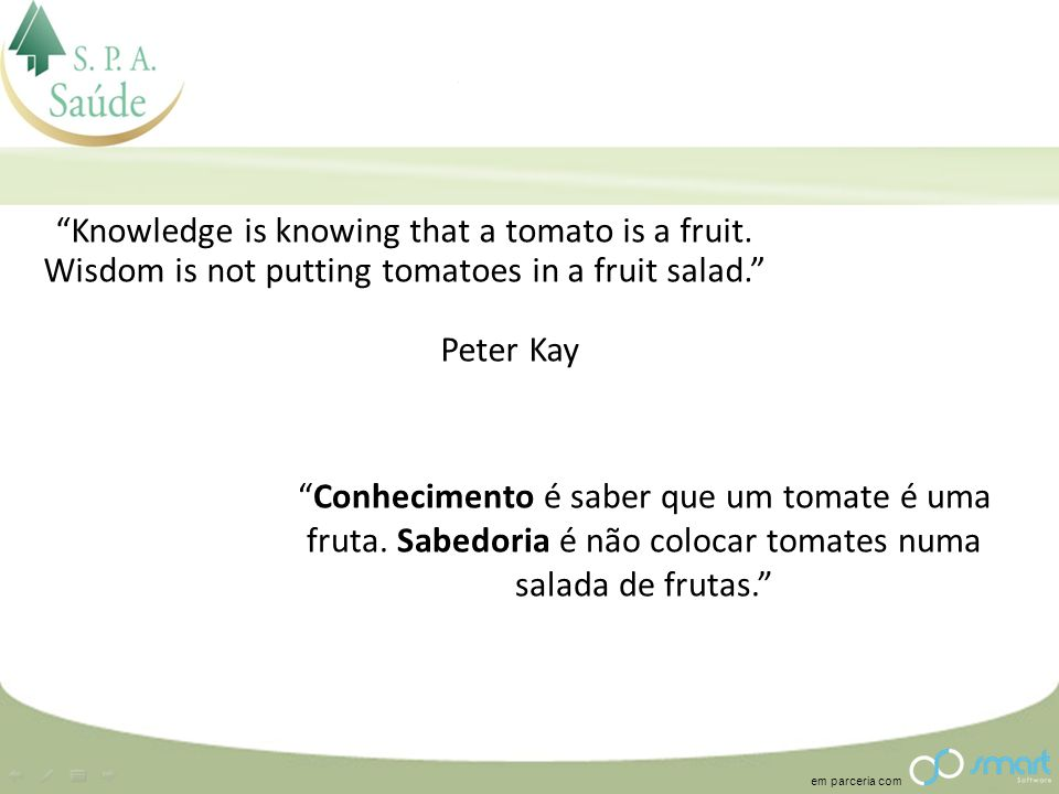 Knowledge is knowing that a tomato is a fruit