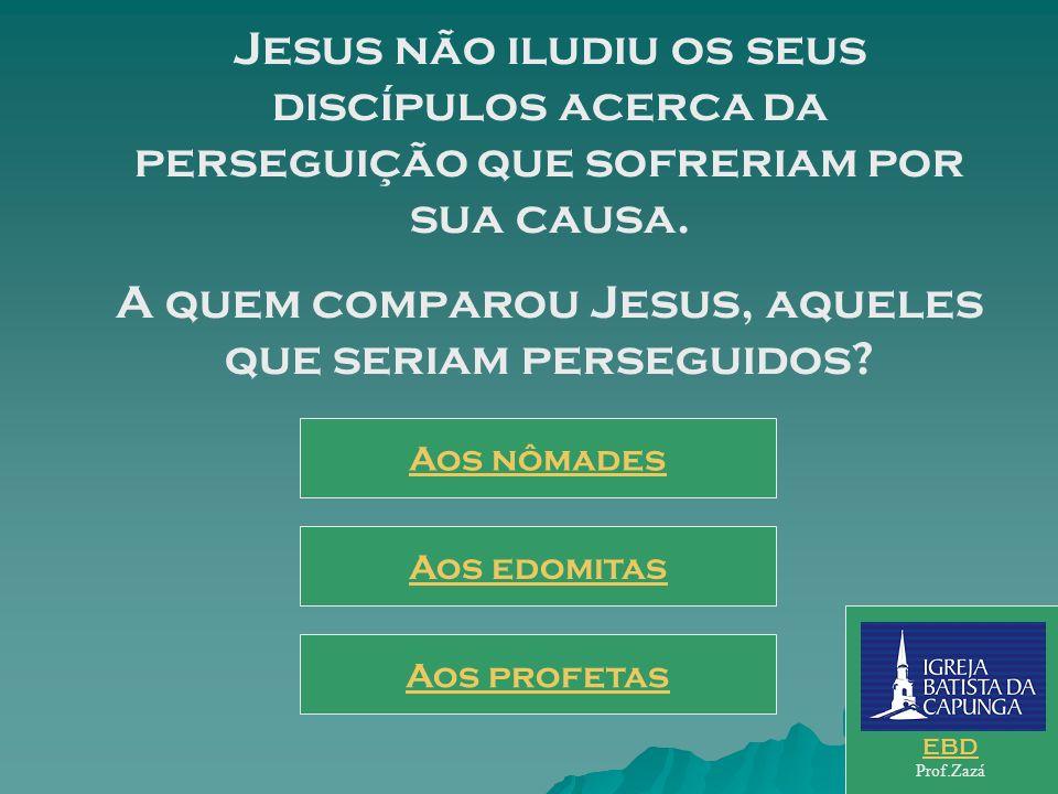 A quem comparou Jesus, aqueles que seriam perseguidos