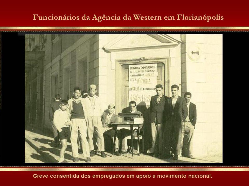 Funcionários da Agência da Western em Florianópolis