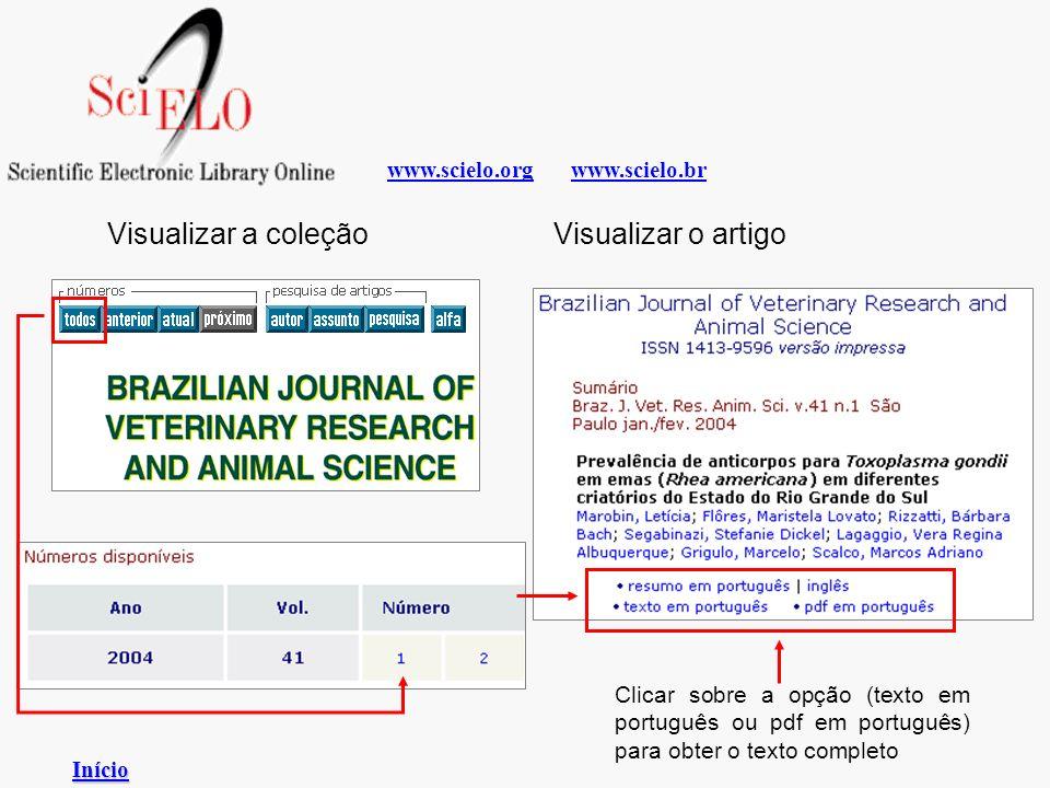 Visualizar a coleção Visualizar o artigo www.scielo.org www.scielo.br