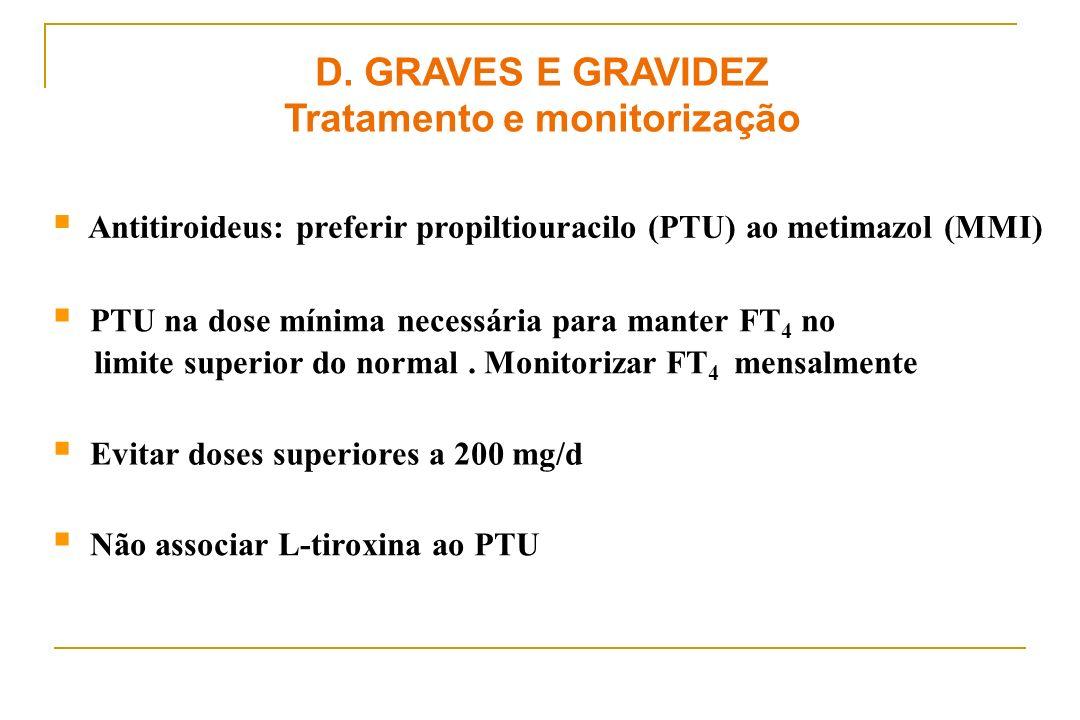 Tratamento e monitorização