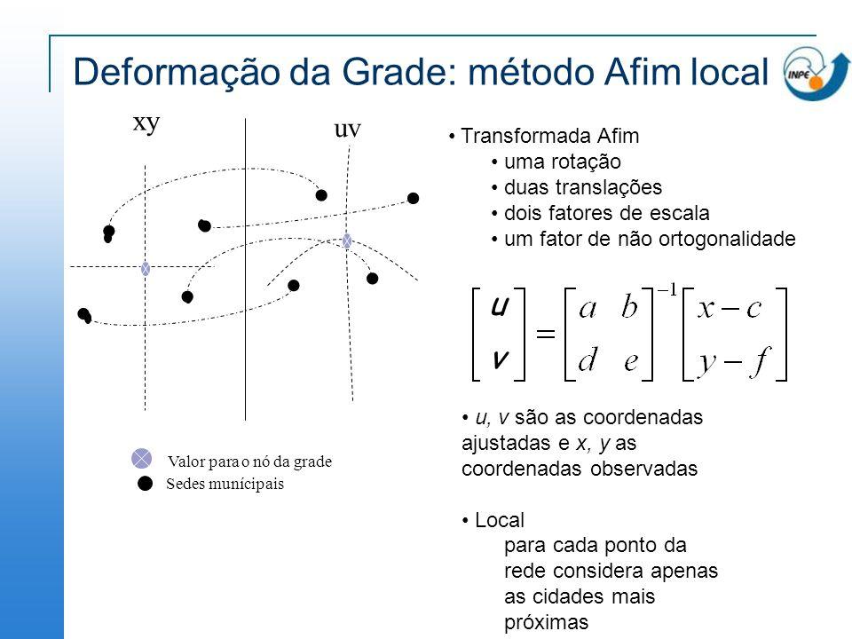 Deformação da Grade: método Afim local