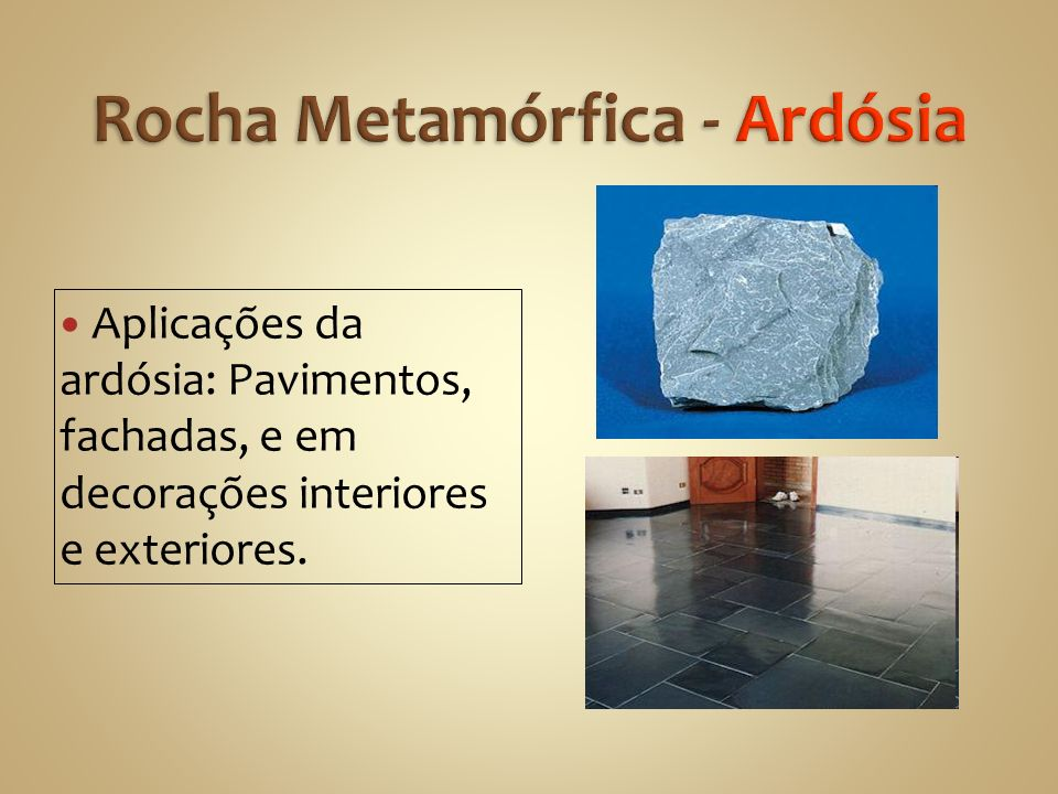 Rocha Metamórfica - Ardósia