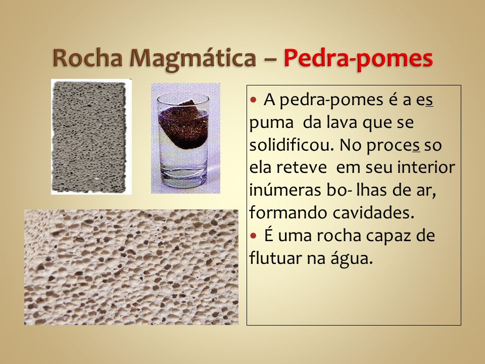 Rocha Magmática – Pedra-pomes