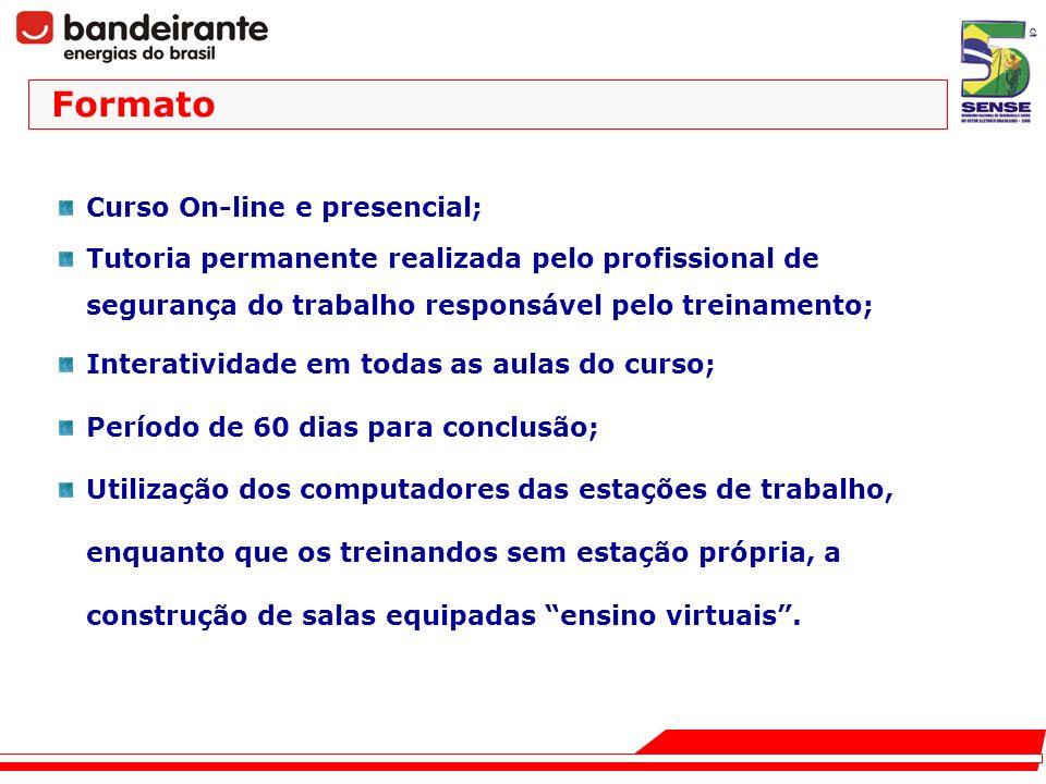 Formato Curso On-line e presencial;