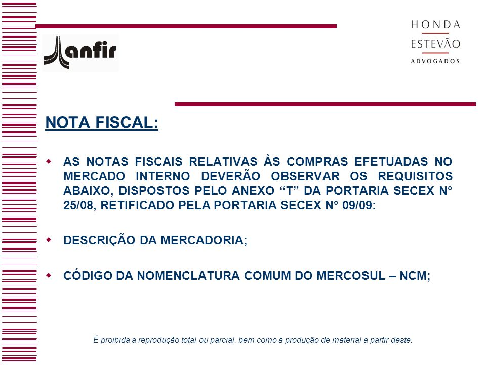 NOTA FISCAL:
