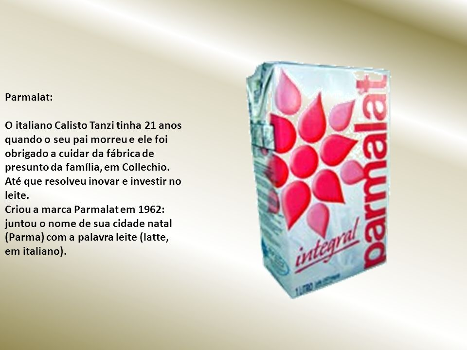 Parmalat: O italiano Calisto Tanzi tinha 21 anos quando o seu pai morreu e ele foi obrigado a cuidar da fábrica de presunto da família, em Collechio.