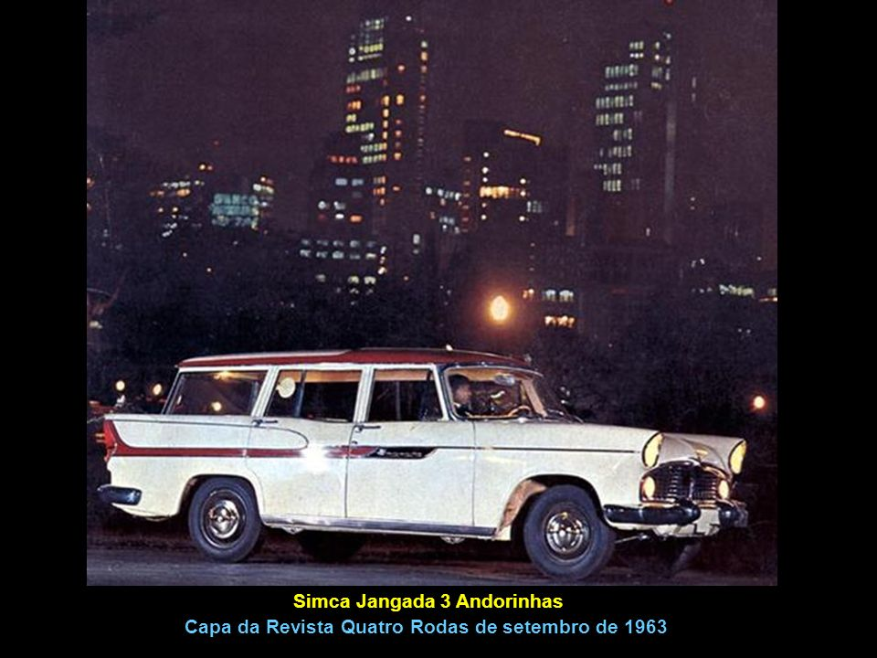 Simca Jangada 3 Andorinhas Capa da Revista Quatro Rodas de setembro de 1963