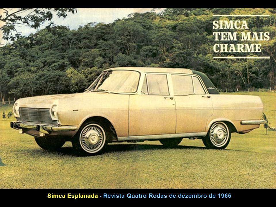 Simca Esplanada - Revista Quatro Rodas de dezembro de 1966