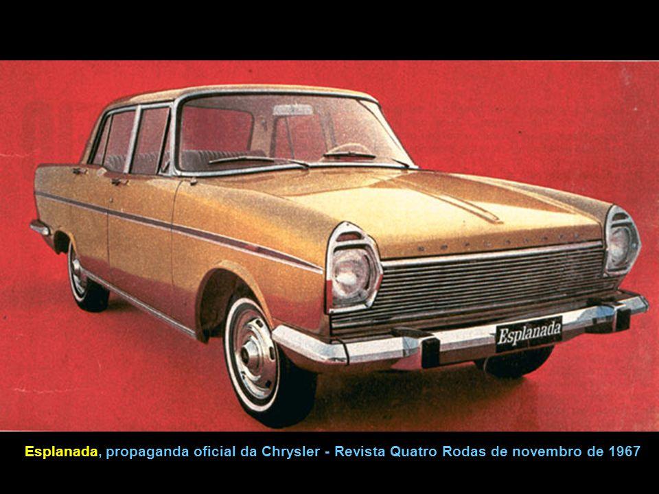 Esplanada, propaganda oficial da Chrysler - Revista Quatro Rodas de novembro de 1967