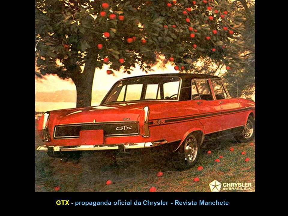 GTX - propaganda oficial da Chrysler - Revista Manchete