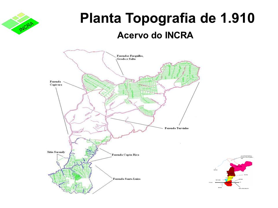 Planta Topografia de 1.910 Acervo do INCRA