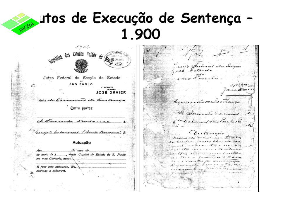 Autos de Execução de Sentença – 1.900