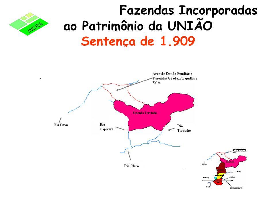 Fazendas Incorporadas ao Patrimônio da UNIÃO Sentença de 1.909