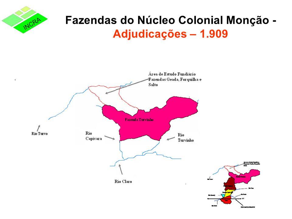 Fazendas do Núcleo Colonial Monção - Adjudicações – 1.909